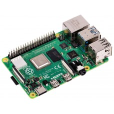 Raspberry Pi 4 Model B, BCM2711 SoC, 2GB DDR4 RAM, USB 3.0, PoE Enabled